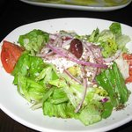 A Greek salad prepared exquisitely!