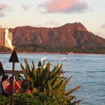 View of Diamond Head from the restaurant