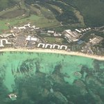 Aerial view of resort as we left