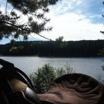 View of Raspberry Lake - a lunch stop on the trail ride