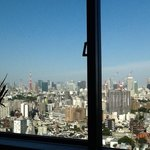 View of Tokyo Tower from our room on the 19th floor.