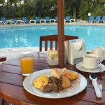 Breakfast besides the pool