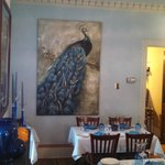Peacock Picture In Dining Room