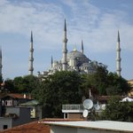 View of the Blue Mosque from the hotel terrace