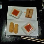 "Japanese a la cart fried cheese ""motza sticks"" & spring rolls"