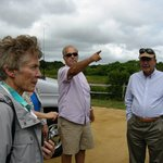 With tour guide Ed Rogers