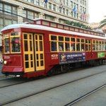 Canal Street Streetcar in front of Hotel