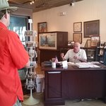 Docent giving history