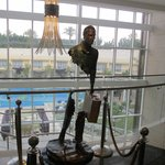'The Traveller' bronze sculpture in the reception foyer