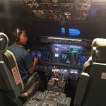 On a simulated flight to SFO