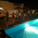 Greek night by the pool