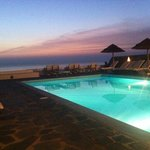 Hotel pool in the evening