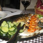 mixed fish dish for two