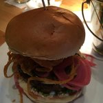 the truffle burger, one of the best burgers in Bethesda