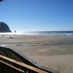 View of Haystack Rock from our balcony