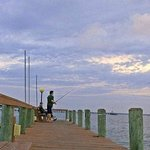 FISHING FROM HOTEL PIER