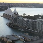 Sunrise view of the Opera House from our room