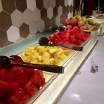 Fruit options at the breakfast bar