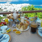 View from La Veranda over nice Greek breakfast