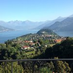 view of Lake Como from the Terrace
