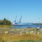 Cool view of bath iron works. Lots of navy boats being built