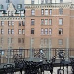 View of Fairmont Empress from rooftop patio