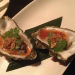 Pacific oyster with coriander crispy shallots