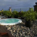 Jacuzzi hot tub by the outdoor pool
