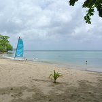 The beach and one of the Hobie's