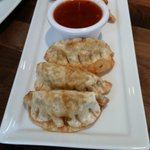 Pot Stickers with dipping sauce