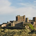 Bamburgh Castle from the sectret carpark (thanks Jeff).