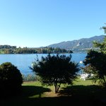 View from our balcony.  Lago D'Orta