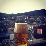 Cheeky beer on the rooftop