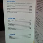 Drinks prices in hotel...