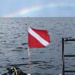 Beautiful rainbow awaiting us after our dive