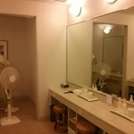 Dressing area in fitness club