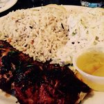 Delicious seabass and pilaf!! Yum!