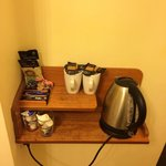 Basic tea and coffee facilities.