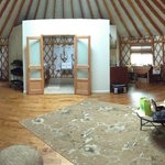 Pano of the inside of the Yurt