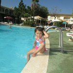 My Daughter Gracie relaxing by the lovely pool