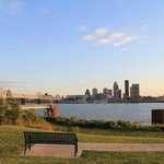 Louisville Skyline From Ashland Park/Falls of the Ohio State Park