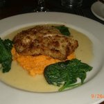 Grouper with Spinach and Sweet Potato Puree