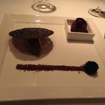 Chocolate decadence with açai sorbet and berry coulis