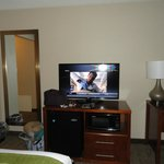 Comfortable room with flatscreen television.