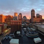 Panoramic view of Indy from our balcony at the Omni