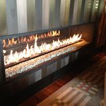 Fireplace at bar