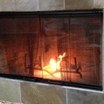 The little fireplace that tried, but couldn't, in the living room