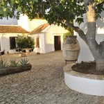 The 'heart and soul' of the Cortijo is its huge cobbled courtyard.
