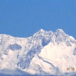 View of the Kanchenjonga from our bedroom window
