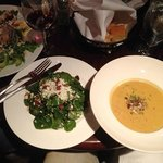 My blue cheese salad and soup